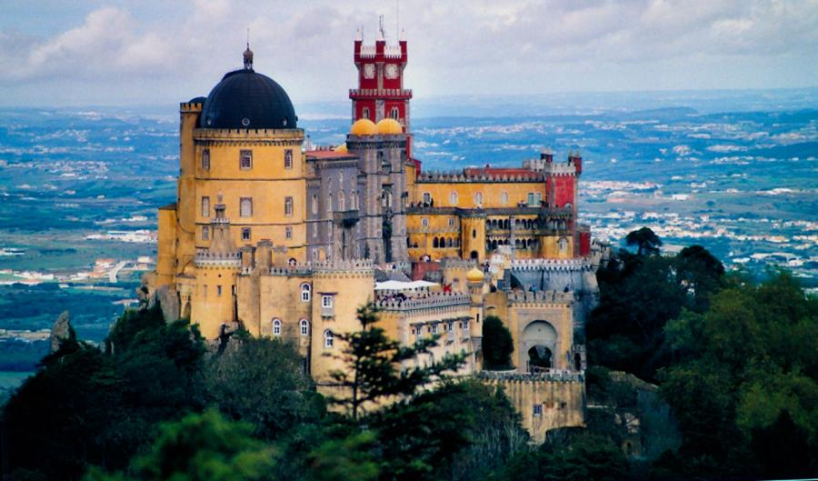 Palacio da Pena, Portugal-General view of the castle tourism destinations