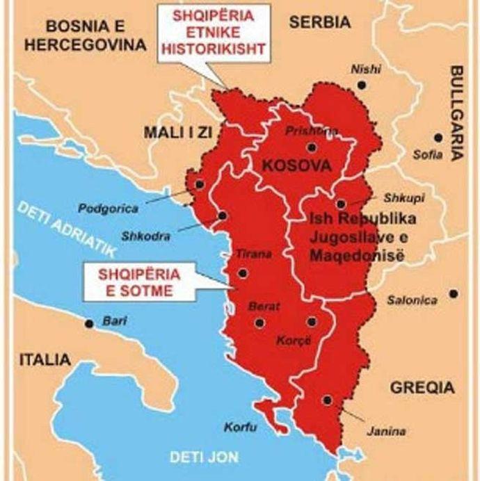 velika albanija НАТО лобиста: Од Улциња до Гусиња све је албанска територија