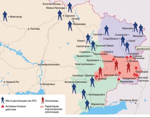 Mapa Borbi U Ukrajini In4s