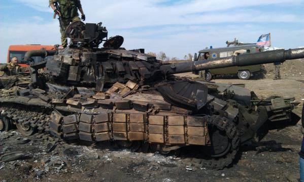 Ukrajinski tenk unisten