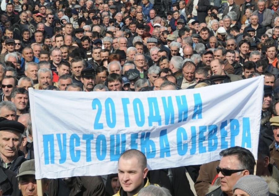 Fotografija sa jednog od protesta u Bijelom Polju