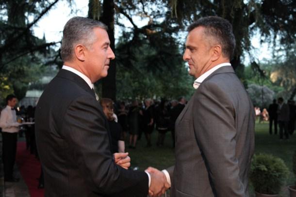 Milo Djukanovic i Zeljko Ivanovic