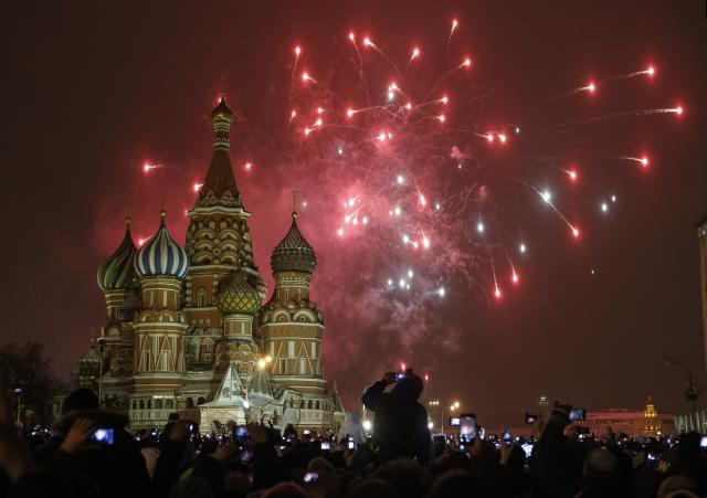 APTOPIX Russia New Year