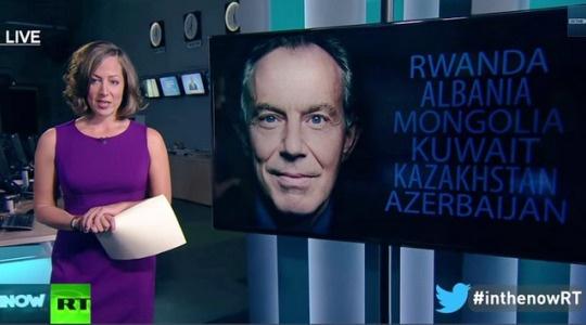 RT Раша Тудеј исмијава власт у Београду: Тони Блер бомбардовао Србију, а сад је савјетује (ВИДЕО)