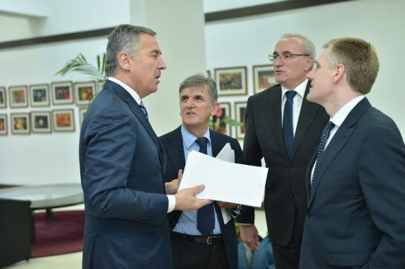 Djukanovic- Marovic-Luksic-DPS