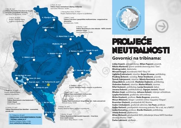 Mapa posjeta opštinama Proljeće neutralnosti