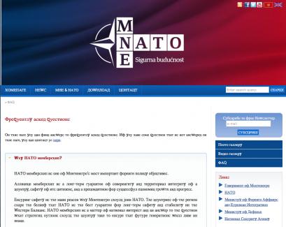 NATO sajt 409x325 Ћирилични енглески језик на сајту НАТО кампање у Црној Гори