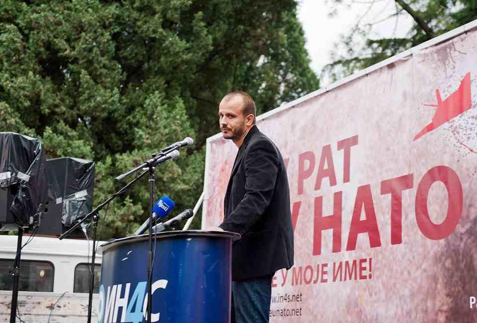 damjanovic-protest-stoltenberg