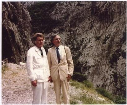 franc veber i becirovic kanjon morace 1988 409x340 Комнен Бећировић: Одустати од зла на Морачи