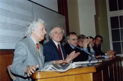 Franz Weber Komnen Becirovic et Jean Paul Blede à la Sorbonne mars 2004 409x270 Комнен Бећировић: Одустати од зла на Морачи