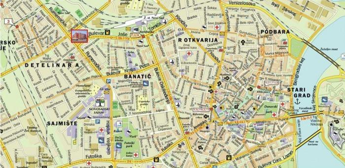 Mapa Novog Sada In4s