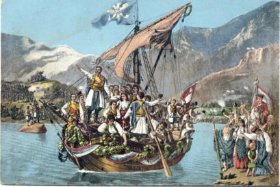 """Сликар Иван Жмирић (1842-1929) још 1881. године на Цетиње је донио слику """"Вјенчање Црне Горе са морем"""""""