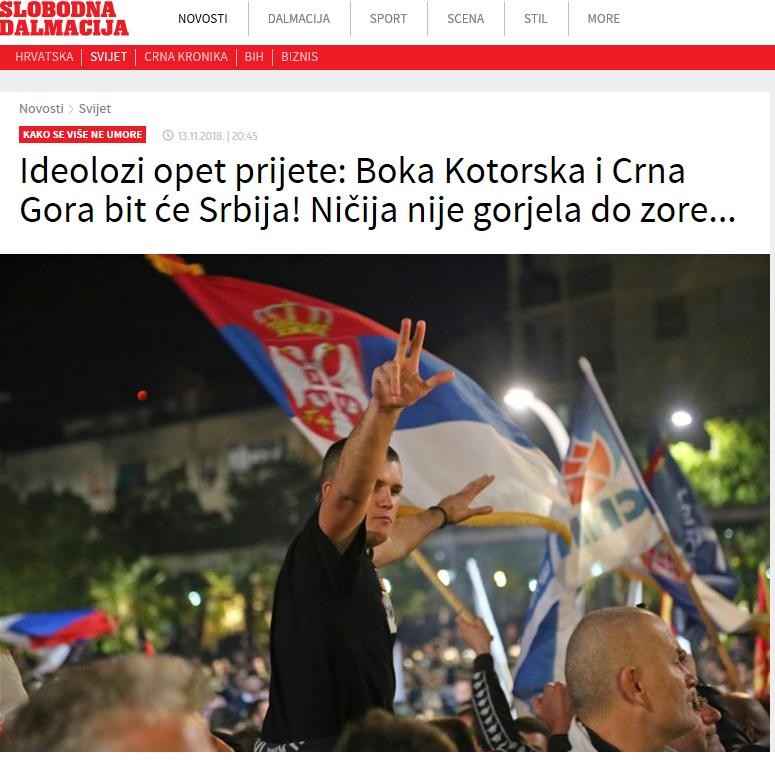 """Портал """"Слободна Далмација"""" (скриншот)"""