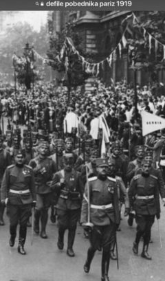 defile pobjednika pariz 1918