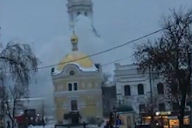 Пожар у Кијевско-печерској лаври (ВИДЕО)
