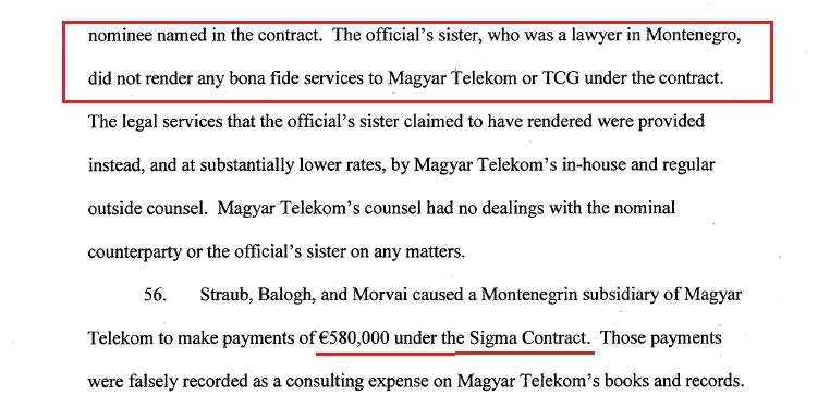 Службеници Владе Црне Горе примили мито од 7,35 милиона долара током приватизације Телекома - оптужница у САД-у 4