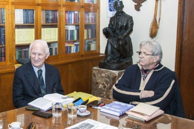 Matija Bećković i Ljubivoje Ršumović