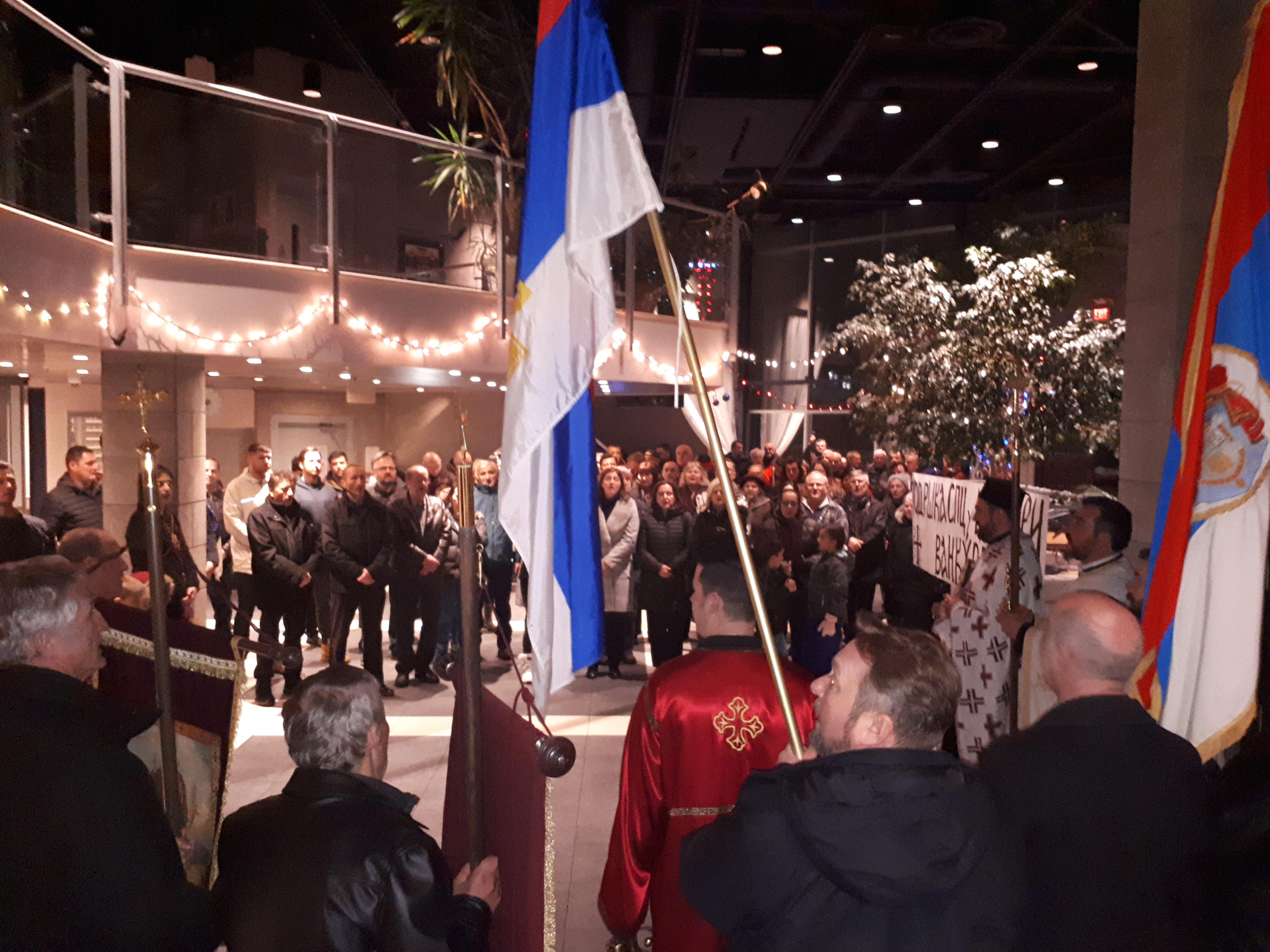 Подршка СПЦ из Канаде: Молебан и крсни вход као подршка православном народу у Црној Гори SPC Podrška Moleban