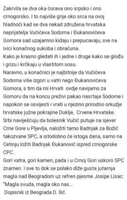 """Наследници Анта Павелића подржавају Ђукановића, како би Црну Гору вратио у """"природно окружење"""" Црвеној Хрватској"""
