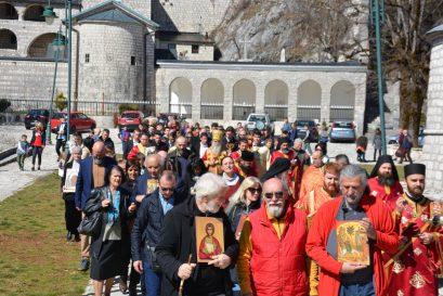 Литија на Цетињу, 2019. године, Недеља православља
