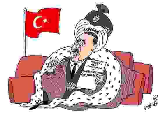 erdogan cartoon Турска на корак од хаоса!