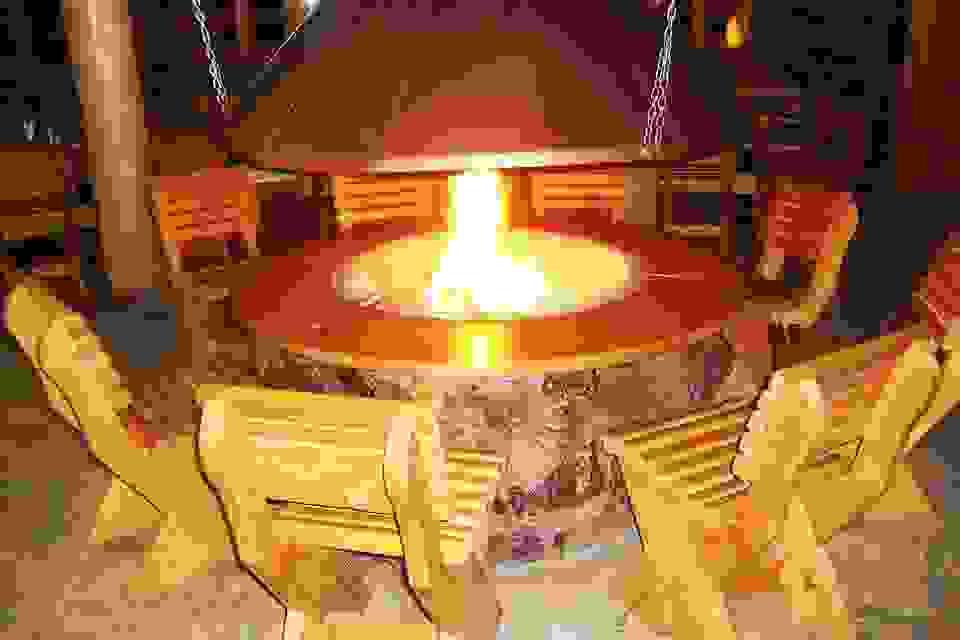 ognjiste u restoranu Kozak